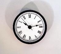 White Roman Quartz Clock Insert Black | Bear Woods Supply