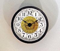 Fancy White Arabic Clock Insert Black | Bear Woods Supply