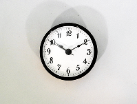 White Arabic Clock Insert Black | Bear Woods Supply