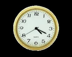 2 White Arabic Premium Clock Insert - Brass Bezel
