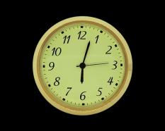 2 Ivory Arabic Premium Clock Insert - Brass Bezel
