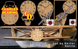 Chalres Dearing Clock scroll saw patterns