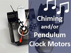 shop for chime and pendulum clock motors