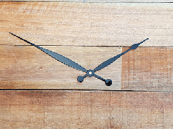 8 Black Tapered and Rounded Clock Hands