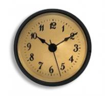 2-7/8 Gold Arabic Clock Insert - Black Bezel