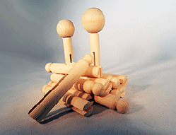 Doll Pins Wood | Bear Woods Supply