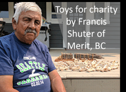Woodworking parts to make toys for charity