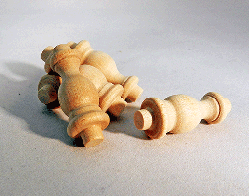 Maple Gallery Spindles 1-1/2 inch | Bear Woods Supply