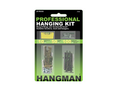 Hangman Pro Picture hanging kit 21 piece kit with level. For Hanging Sawtooths, D-Rings & Keyholes