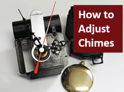 how to adjust chime clock movements.