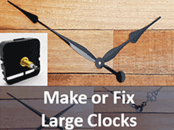 Clock parts to make and repair large clocks