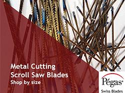 Metal Cutting Scroll Saw Blades by Pegas