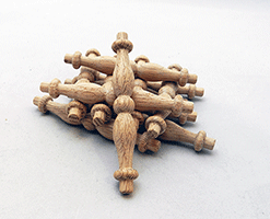 Oak Furniture Spindle 3-1/2 inches | Bear Woods Supply