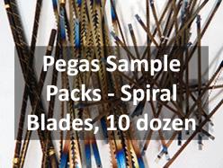 Pegas Spiral Tooth Sample Packs