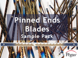 Pinned Ends Scroll Saw Blades from Pegas