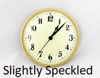 Slightly Speckled Clock Insert | Bear Woods Supply