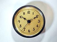 Black bezel gold Arabic clock fit up