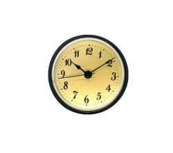 Clock Inserts, 3-1/2 Arabic Numerals, Gold Dial, Black Bezel