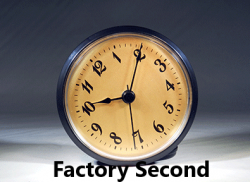 Clock Inserts, 3-1/2 Arabic Numerals, Gold Dial, Black Bezel - Factory Second*