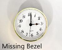 Missing Bezel - Clock Insert