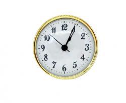 PREMIUM White Arabic Clock Inserts 3-9/16, Real Brass Bezel