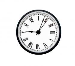 Clock Inserts, 3-1/2 Roman Numerals, White Dial, Black Bezel