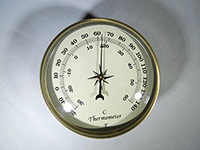 Gold Bezel Ivory Face Thermometer