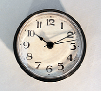 Antique Black Clock Inserts