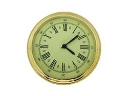 2 Ivory Roman Premium Clock Insert - Brass Bezel