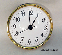 White Arabic Silent Clock Insert | Bear Woods Supply