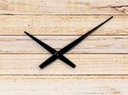 Clock Hands 6 for High Torque Movements, Black