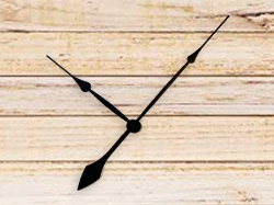 Clock Hands 12 for High Torque Movements, Black Spade Style