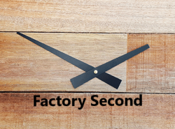 5-7/8 Tapered Black Clock Hands - Factory Second*