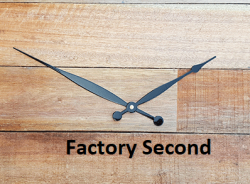 8 Black Tapered and Rounded Clock Hands - Factory Second*