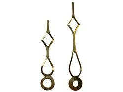 2-1/4 Brass Arrow Clock Hands