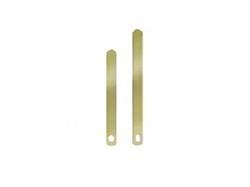 4-7/8 Brass Straight Clock Hands
