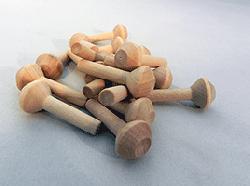 """Wooden Smokestack 5/8"""" X 1-1/2"""" (1/4"""" Dia. Tenon)"""