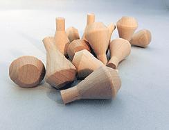 """Wooden Smokestack 1"""" x 1-5/8"""" (3/8"""" Dia. Tenon)"""