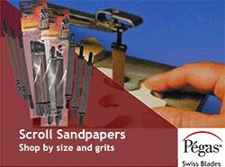Scroll sander sanding belts by Pegas | Bear Woods