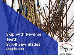 Skip Reverse Tooth Scroll Saw Blades
