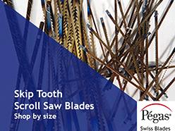 Skip Tooth Scroll Saw Blades by Pegas