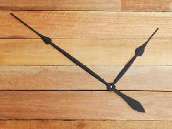 High Torque Clock Hands 17-3/4, Black Spade Style