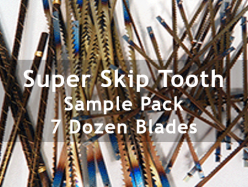 Super Skip Tooth Scroll Saw Blades Sample Pack