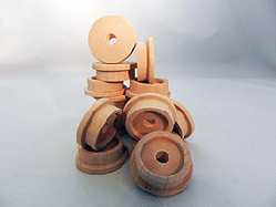 Wooden Train Wheels and Smokestacks | Parts for wood model
