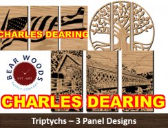 Triptychs scroll saw patterns 3 panels