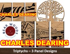 Triptychs scroll saw patterns 3 panels