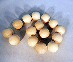 Wood Craft Ball 1 inch | Bear Woods Supply