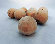 Wood Ball Knob 1-1/2 inch | Bear Woods Supply