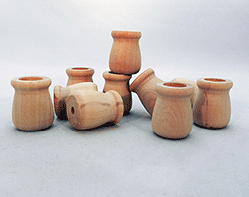 Wooden Candle Cups 3/4 inch | Bear Woods Supply
