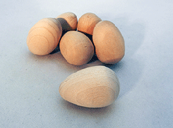 Wooden Eggs 1-5/8 inch | Bear Woods Supply